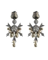 Alexis Bittar - Multicolor Crystal Encrusted Dangling Snowflake Clip Earring You Might Also Like - Lyst