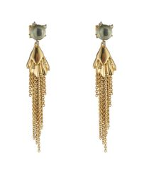 Alexis Bittar - Metallic Crystal Studded Dangling Tassel Post Earring You Might Also Like - Lyst