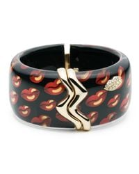 Alexis Bittar - Multicolor Liquid Metal Lip Pattern Studded Cuff - Lyst