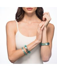 Alexis Bittar - Green Golden Studded Hinge Bracelet You Might Also Like - Lyst