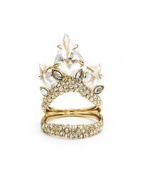 Alexis Bittar - Metallic Gold Jagged Diamond Cocktail Ring - Lyst