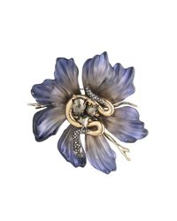 Alexis Bittar - Blue Lucite Flower And Snake Pin You Might Also Like - Lyst