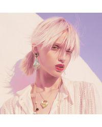 Alexis Bittar - Metallic Crystal Lace Chandelier Earring - Lyst