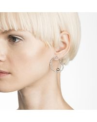 Alexis Bittar | Metallic Crystal Encrusted Organic Hoop Post Earring You Might Also Like | Lyst