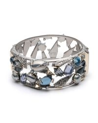 Alexis Bittar - Metallic Crystal Encrusted Mosaic Lace Hinge Bracelet You Might Also Like - Lyst