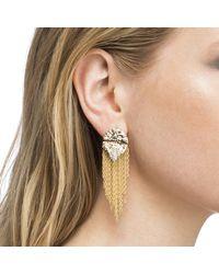 Alexis Bittar - Metallic Rocky Medallion Post Earring - Lyst