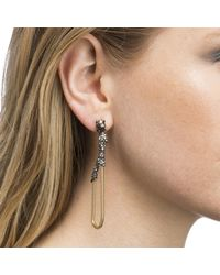 Alexis Bittar - Multicolor Dangling Snake Chain Post Earring You Might Also Like - Lyst