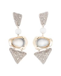 Alexis Bittar - Gray Crystal Encrusted With Matte White Accent Dangling Lucite Clip Earring You Might Also Like - Lyst