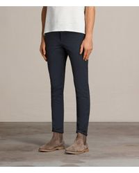 AllSaints - Blue Park Chino for Men - Lyst