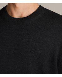 AllSaints - Black Blake Crew Sweater for Men - Lyst