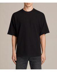 AllSaints - Black Hiruma Crew T-shirt for Men - Lyst