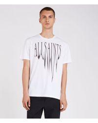 AllSaints - White Amplify Crew T-shirt for Men - Lyst