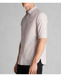 AllSaints - Pink Redondo Half Sleeve Shirt for Men - Lyst