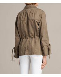 AllSaints - Green Amira Jacket - Lyst