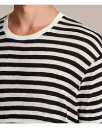 AllSaints - Black Yeshi Crew T-shirt for Men - Lyst