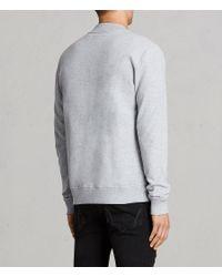 AllSaints - Gray Raven Sweat Bomber Jacket for Men - Lyst