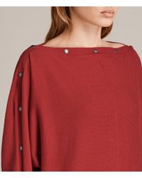 AllSaints - Red Elle Jumper - Lyst