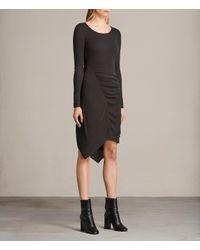 AllSaints - Black Duna Dress - Lyst