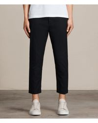 AllSaints | Black Carlow Trouser for Men | Lyst