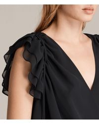 AllSaints - Black Phoebe Top - Lyst