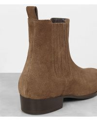 AllSaints - Brown Curtis Chelsea Boot - Lyst
