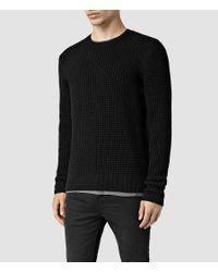 AllSaints - Black Kargg Crew Sweater for Men - Lyst