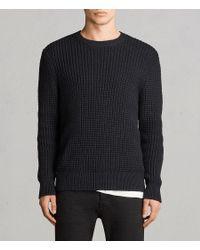 AllSaints - Black Kee Crew Sweater for Men - Lyst