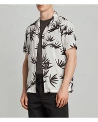 AllSaints - White Bhutan Hawaiian Shirt for Men - Lyst