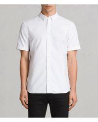 AllSaints - White Huntingdon Short Sleeve Shirt for Men - Lyst