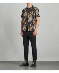 AllSaints - Black Hanalei Regular Fit Button-down Shirt for Men - Lyst