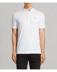 AllSaints - White Saints Polo Shirt for Men - Lyst