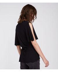 AllSaints - Black Amira Top - Lyst