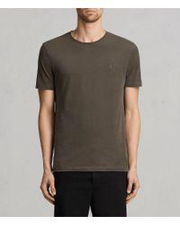4c69cd67a6fdeb AllSaints Brace Tonic Crew T-shirt in Gray for Men - Lyst