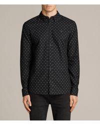 AllSaints | Black Fairfield Shirt for Men | Lyst
