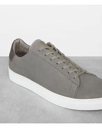 AllSaints - Gray Sol Low Top Sneaker for Men - Lyst