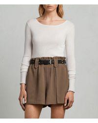 AllSaints - Green Mercer Shorts - Lyst