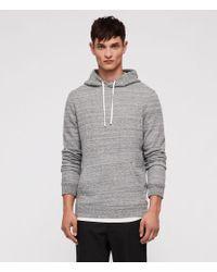 AllSaints - Gray Mind Hoodie for Men - Lyst