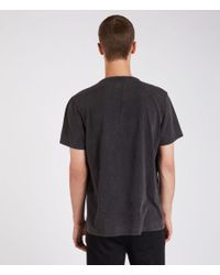 AllSaints - Black Imprinted Crew T-shirt for Men - Lyst