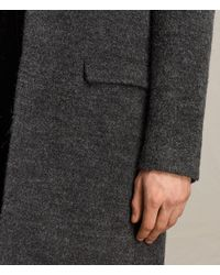 AllSaints - Gray Abel Coat for Men - Lyst