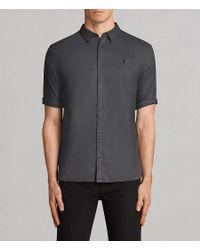 AllSaints - Multicolor Westlake Half Sleeve Shirt for Men - Lyst