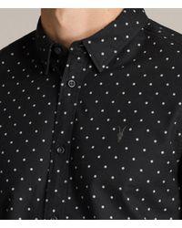 AllSaints - Black Fairfield Shirt for Men - Lyst