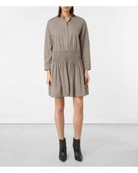 AllSaints   Gray Bria Dress   Lyst