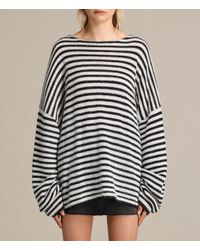 AllSaints | Blue Casso Crew Sweater Usa Usa | Lyst