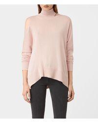 AllSaints | Pink Cecily Jumper | Lyst
