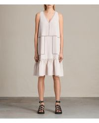 AllSaints | Pink Crace Dress Usa Usa | Lyst