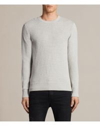 AllSaints | Gray Ettrick Crew Sweater Usa Usa for Men | Lyst