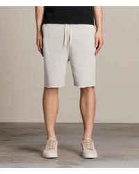 AllSaints | Gray Fordala Sweat Shorts for Men | Lyst