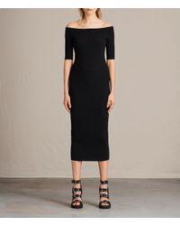 AllSaints | Black Lavine Dress | Lyst
