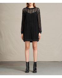 AllSaints | Black Star Embroidered Dress Usa Usa | Lyst