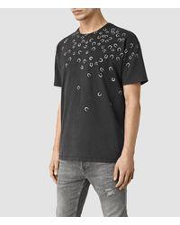 AllSaints - Black Clash Long Sleeve Polo Shirt for Men - Lyst